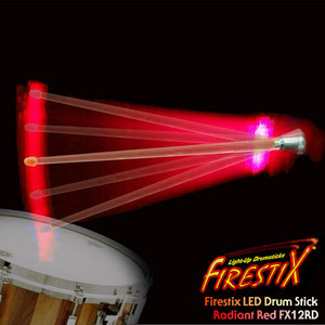 [드럼코리아 1599-3867] Firestix LED Drumstick LED 드럼스틱FX12RD Radiant Red
