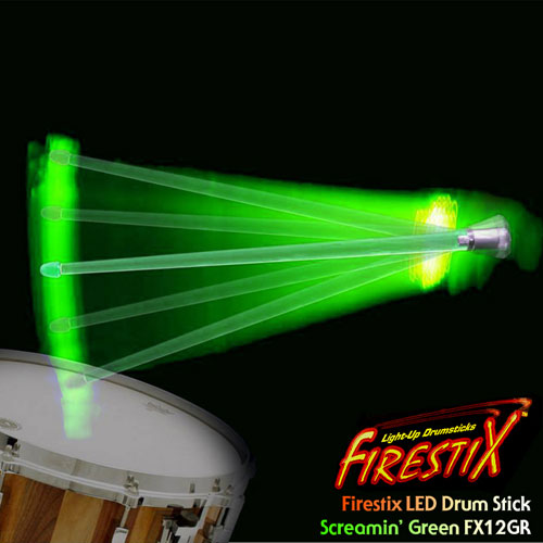 [드럼코리아 1599-3867] Firestix LED Drumstick LED 드럼스틱 FX12GR Screamin' Green