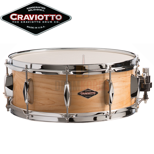 Craviotto JOHNNY C SERIES SOLID SHELL MAPLE 5.5x14 클라비오토 스네어드럼
