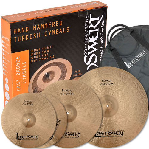 LobenSwert - DARK CUSTOM cymbal set 로벤스워트 다크커스텀 심벌세트 (14H,16C,20R + Case)