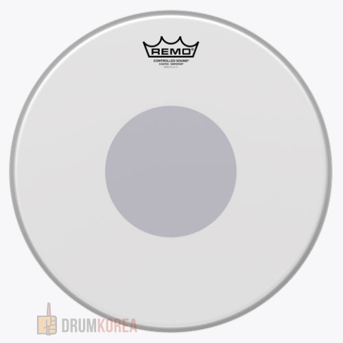 REMO BE-0114-10 14인치 Emperor Coated Snare Drum Head 레모 뒷면-검정 도트 스네어 코팅피