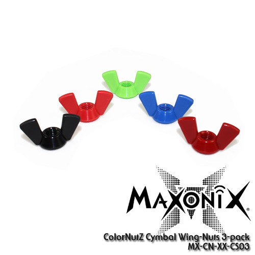 MaxOnix ColorNutZ™ Cymbal Wing-Nuts (3pcs) /MX-CN-XX-CS03/윙넛