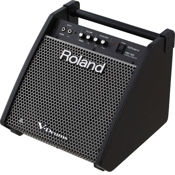 "ROLANDPERSONAL DRUM MONITOR PM100 80-watt 1x10""  l 로렌드 전자드럼 전용앰프 [80W]"
