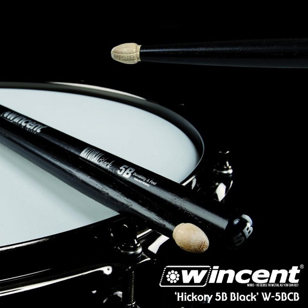 Wincent Hickory 5B Black Drum Stick /W-5BCB 윈센트 드럼스틱