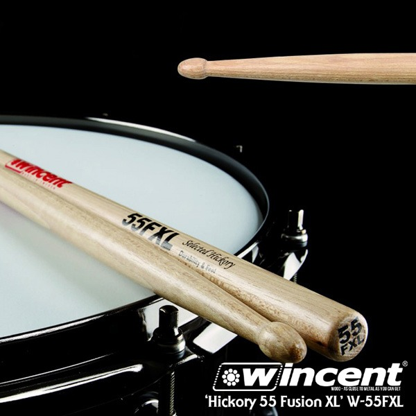 [드럼코리아 1599-3867] Wincent Hickory 55 Fusion XL Drum Stick /W-55FXL 윈센트 드럼스틱