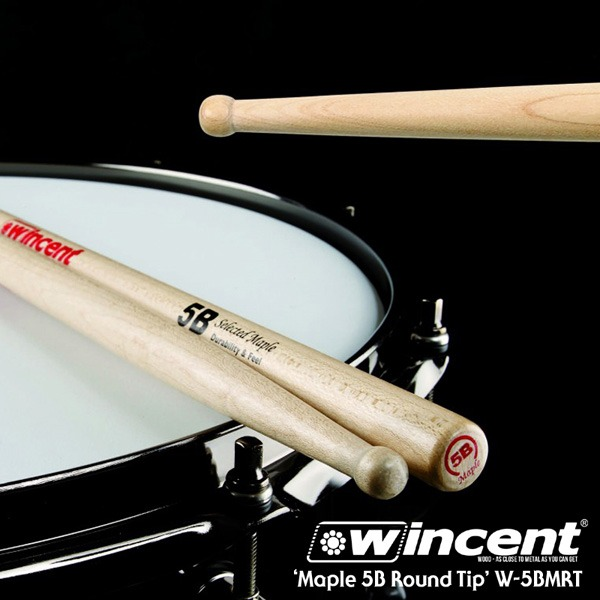 Wincent Maple 5B Round Tip Drum Stick /W-5BMRT 윈센트 드럼스틱
