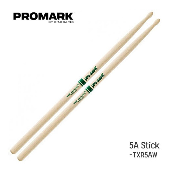 Promark - The Natural Hickory 5A 스틱(Wood/TXR5AW) l 프로마크 드럼스틱