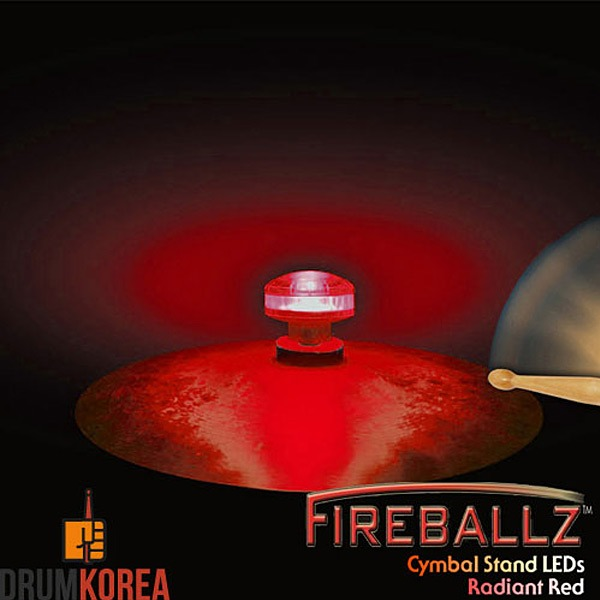 Fireballz - Cymbal LEDs (LED 윙넛) -Radiant Red- FX14RD-