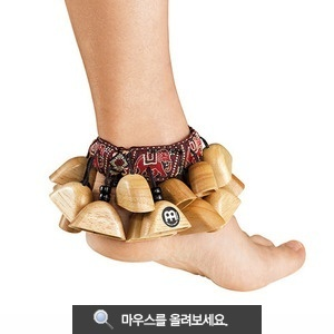 [드럼코리아 1599-3867] Meinl Foot Rattle (Rubber Wood Natural)